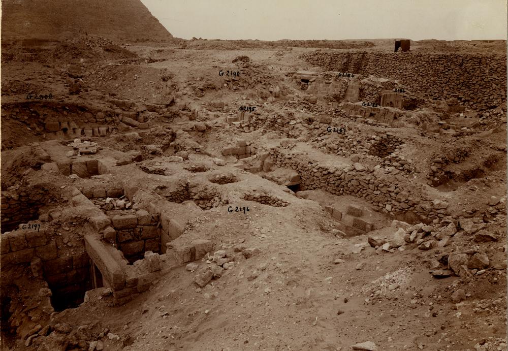 Western Cemetery: Site: Giza; View: G 2197, G 2196, G 2195, G 2187, G 2188, G 2186, G 2184