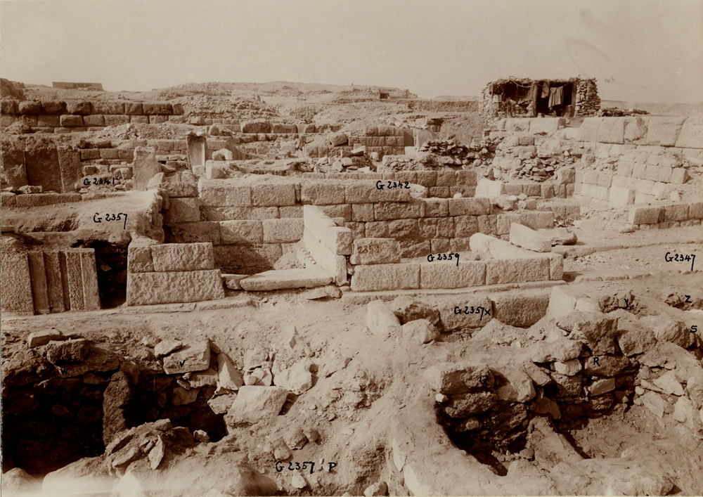 Western Cemetery: Site: Giza; View: G 5555, G 5554, G 5561, G 5552, G 5553, G 5551, G 5540, G 2342 = G 5520