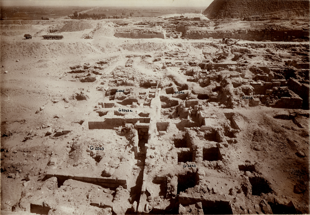 Western Cemetery: Site: Giza; View: G 2043, G 2045, G 2042, G 2044, G 2033, G 2000