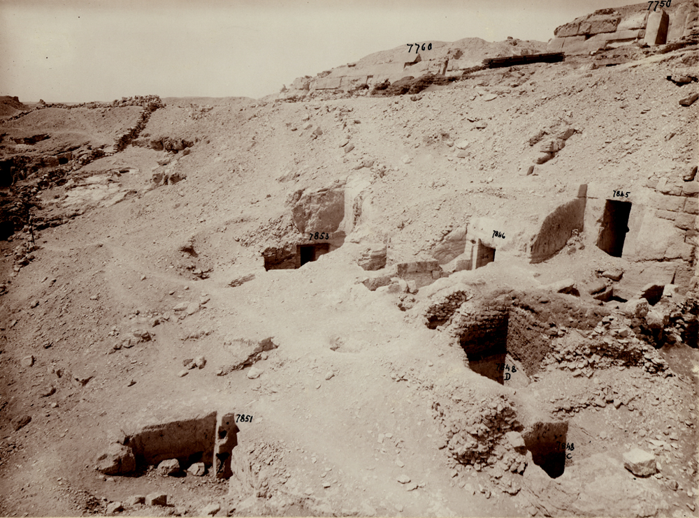 Eastern Cemetery: Site: Giza; View: G 7845, G 7846, G 7848, G 7851, G 7853