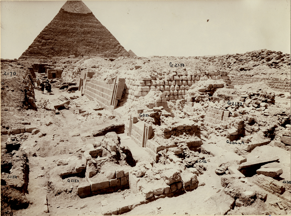 Western Cemetery: Site: Giza; View: G 2170, G 2150, G 2154, G 2153, G 2152, G 2151, G 2136', G 2134a, G 2132, G 2138