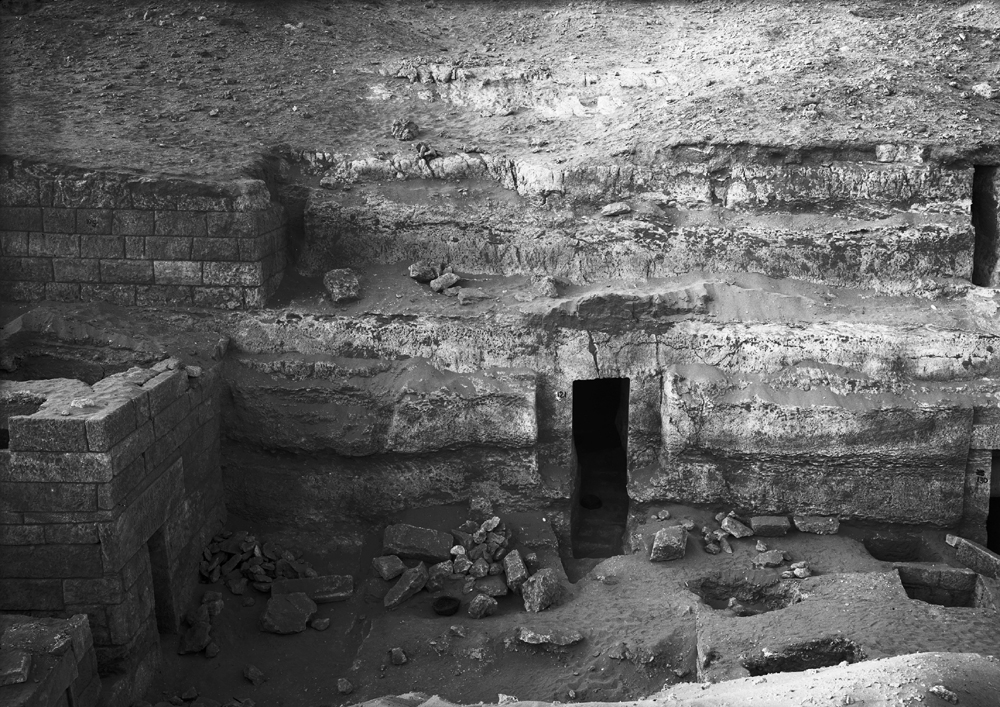 Menkaure Quarry Cemetery: Site: Giza; View: MQ 121, MQ 120, MQ 105, MQ 131