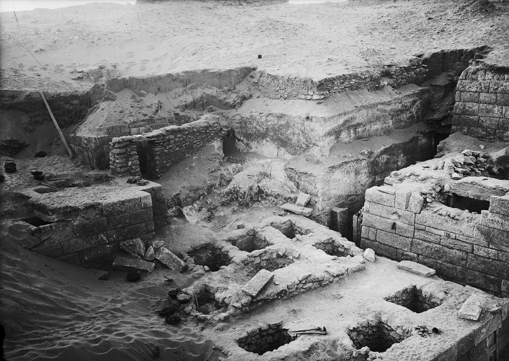 Menkaure Quarry Cemetery: Site: Giza; View: MQ 120, MQ 124, MQ 134, MQ 135, MQ 106, MQ 123