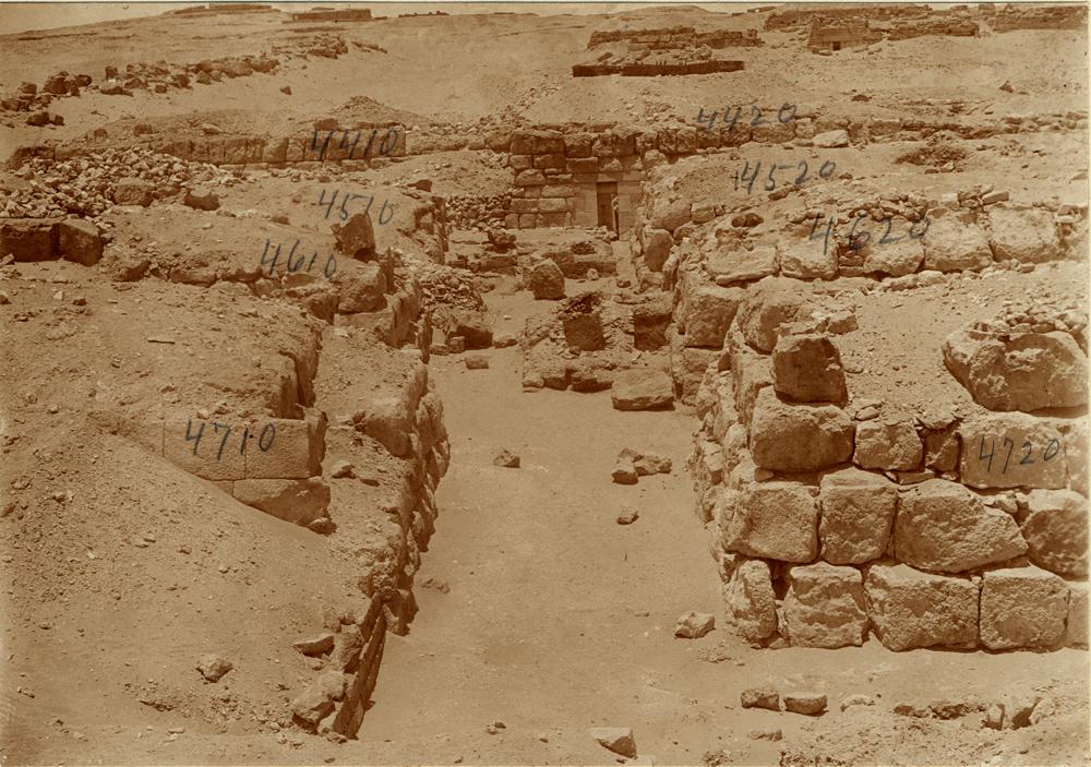 Western Cemetery: Site: Giza; View: G 4710, G 4610, G 4510, G 4720, G 4620, G 4520, G 4411, G 4616, G 4410, G 4420