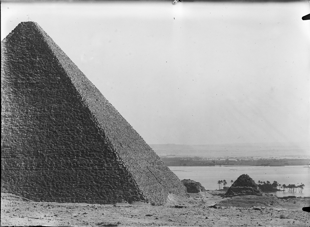 General view: Site: Giza; View: Giza, Khufu Pyramid