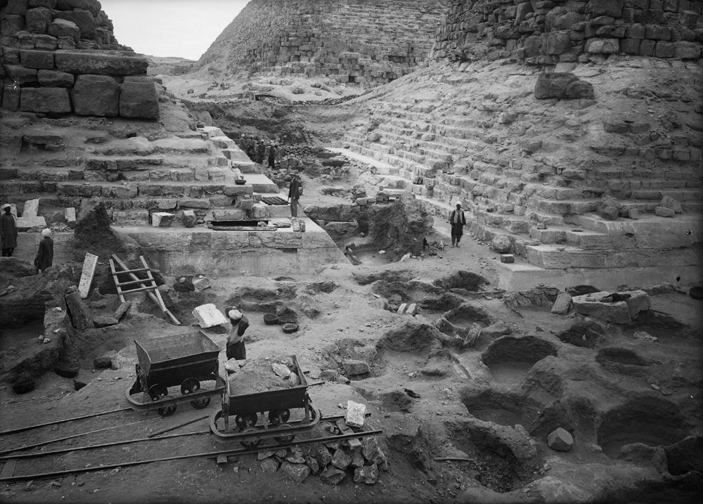 Khufu Pyramid Complex: Site: Giza; View: street G 7000, avenue G 3, G I-c, G I-b
