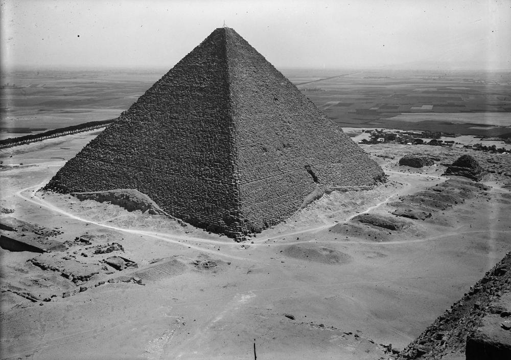 Khufu Pyramid Complex: Site: Giza; View: Khufu pyramid