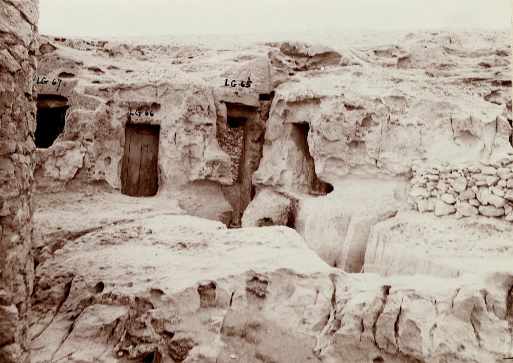 Eastern Cemetery: Site: Giza; View: Lepsius 67, Lepsius 66, Lepsius 65