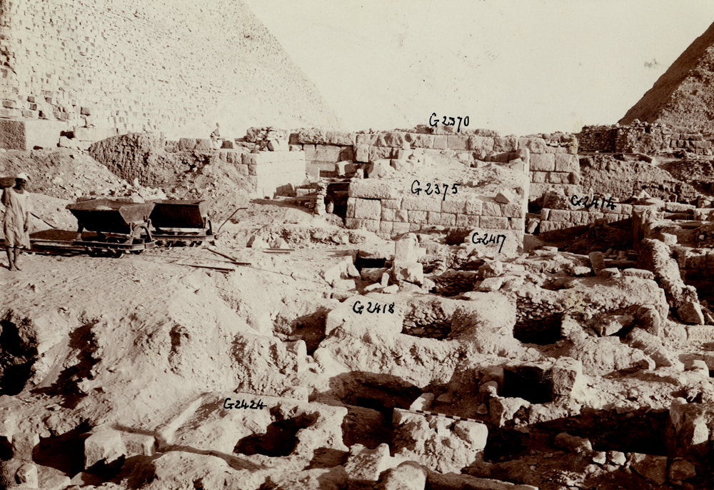 Western Cemetery: Site: Giza; View: G 2424+2425, G 2418, G 2417, G 2375, G 2414, G 2370
