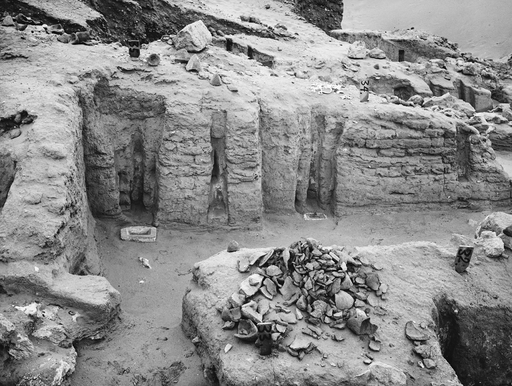 Wadi Cemetery (Reisner; north of W. Cem): Site: Giza; View: GW 32, GW 33, GW 34, GW 35