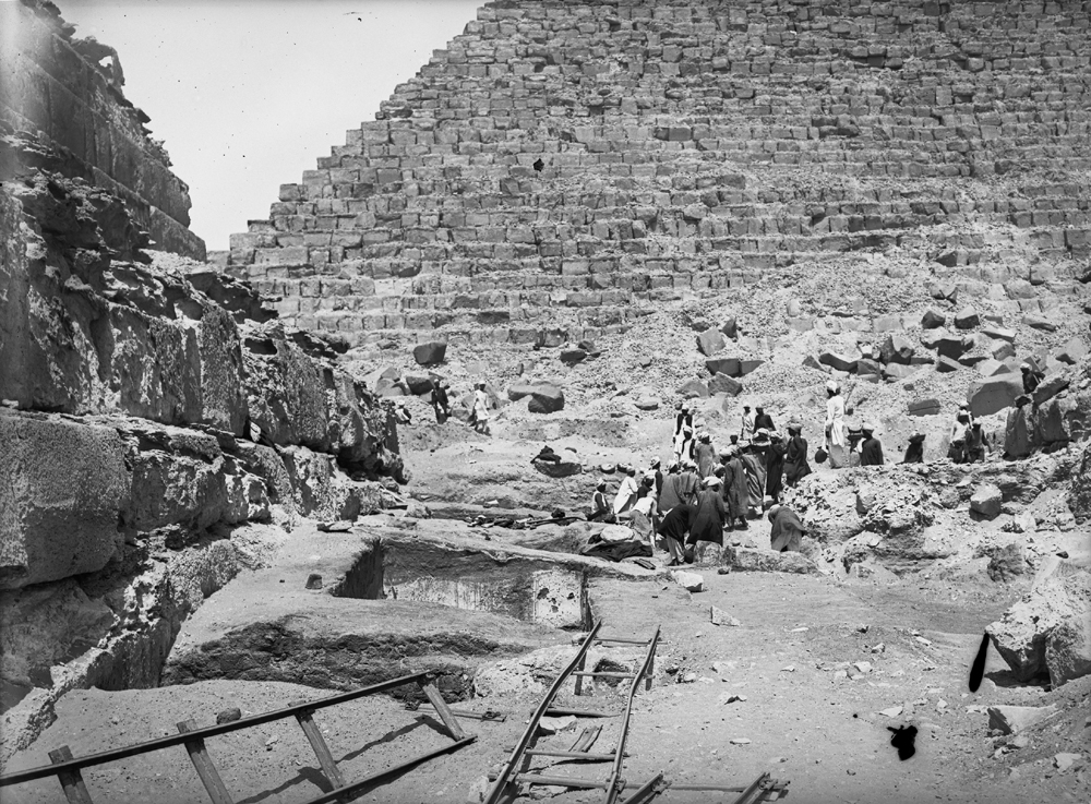 Menkaure Pyramid Complex: Site: Giza; View: G III-b temple
