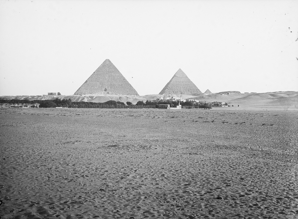 General view: Site: Giza; View: Pyramids