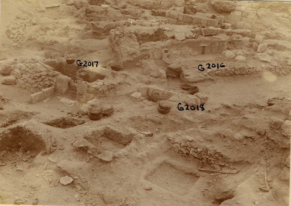 Western Cemetery: Site: Giza; View: G 2016, G 2021, G 2017, G 2024