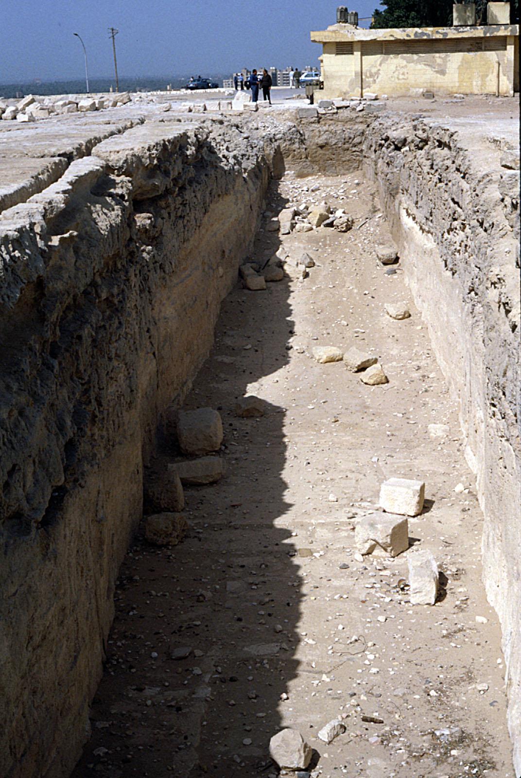 Khufu Pyramid Complex: Site: Giza; View: Khufu Boat Pits (Boat Pit No. 4)