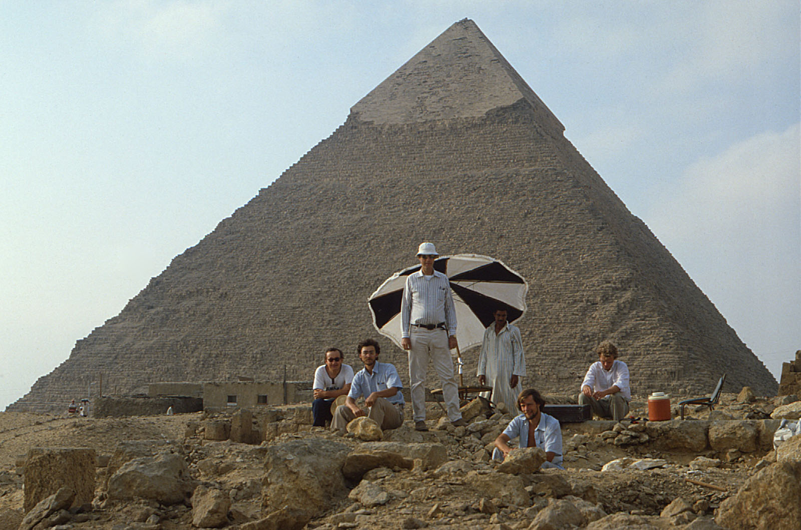 People & places: Site: Giza; View: Khafre Pyramid