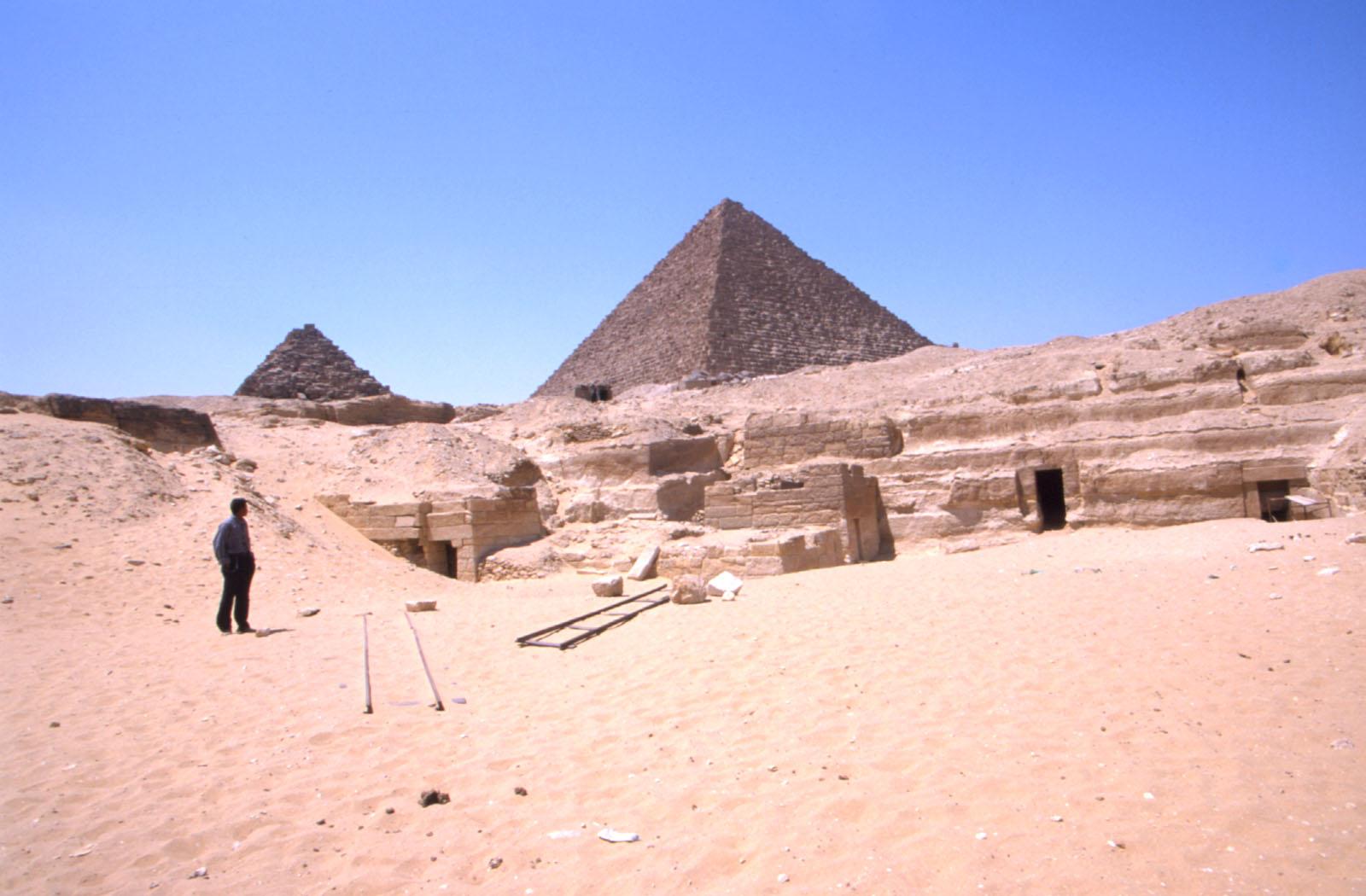 Menkaure Quarry Cemetery: Site: Giza; View: Menkaure Quarry