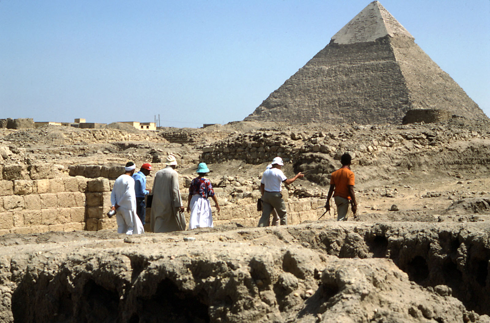 Western Cemetery: Site: Giza; View: Persen, Khafre Pyramid