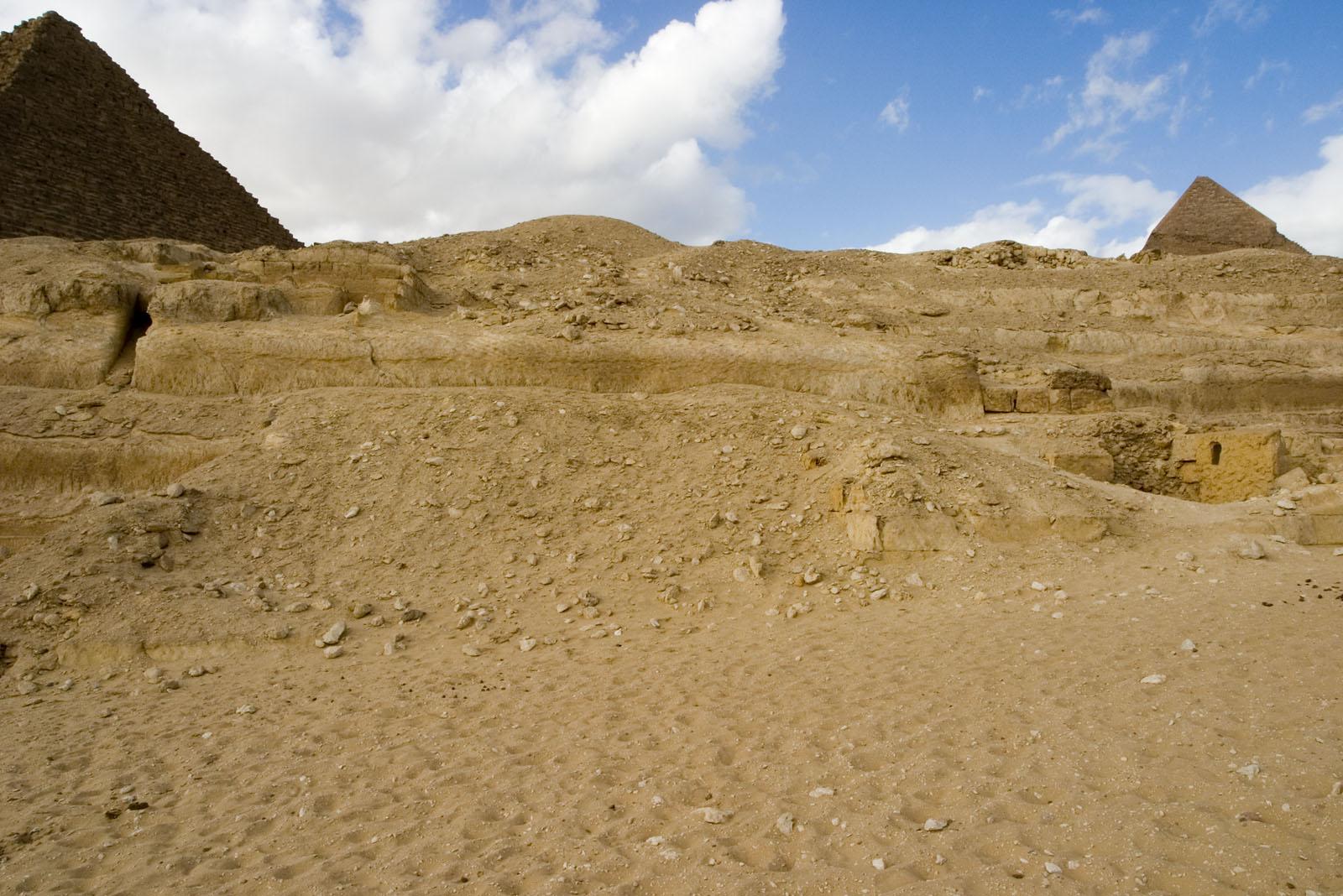 Menkaure quarry cemetery: Site: Giza; View: MQ 132, MQ 133