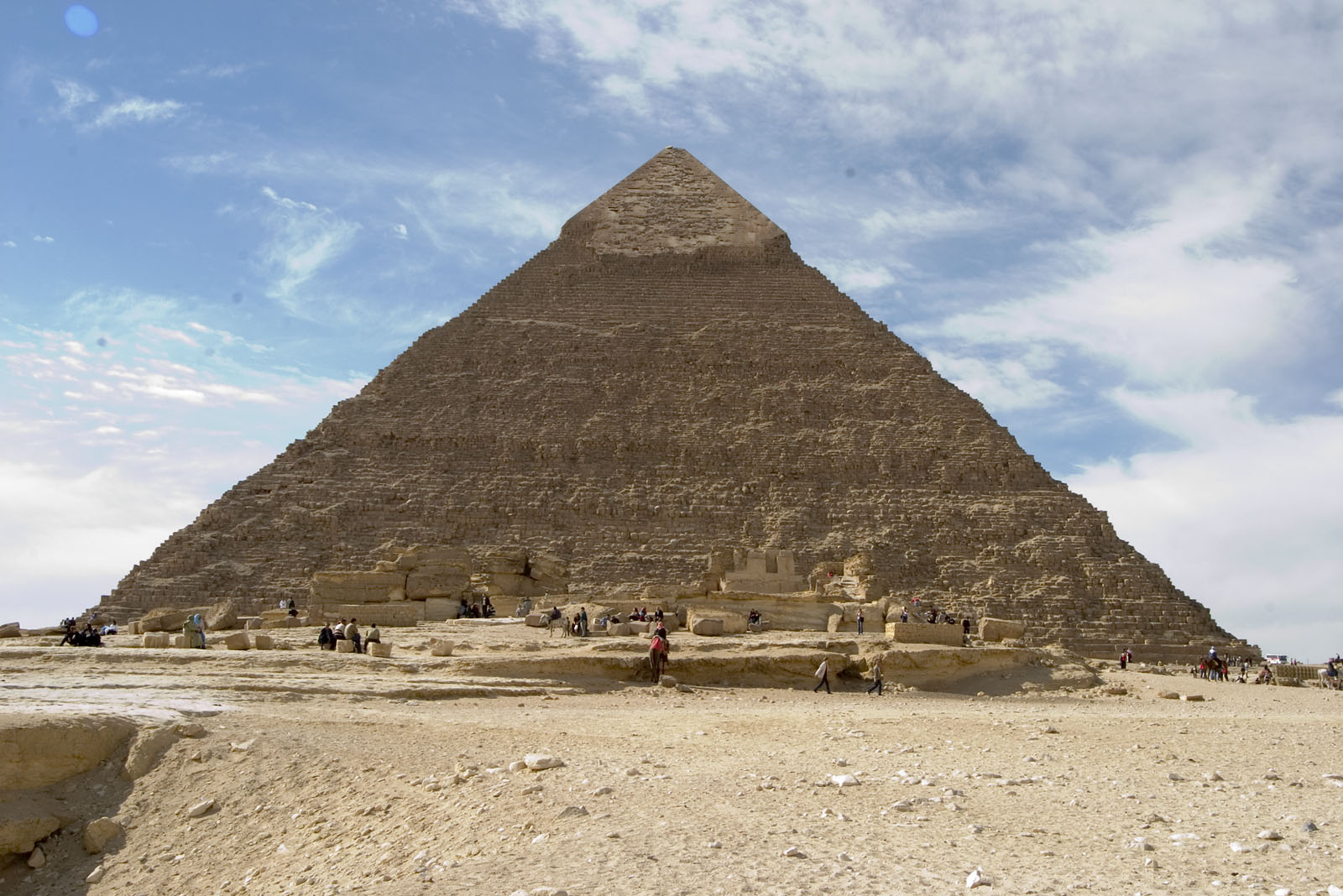 Khafre pyramid and or pyramid temple: Site: Giza; View: Khafre pyramid, Khafre pyramid temple