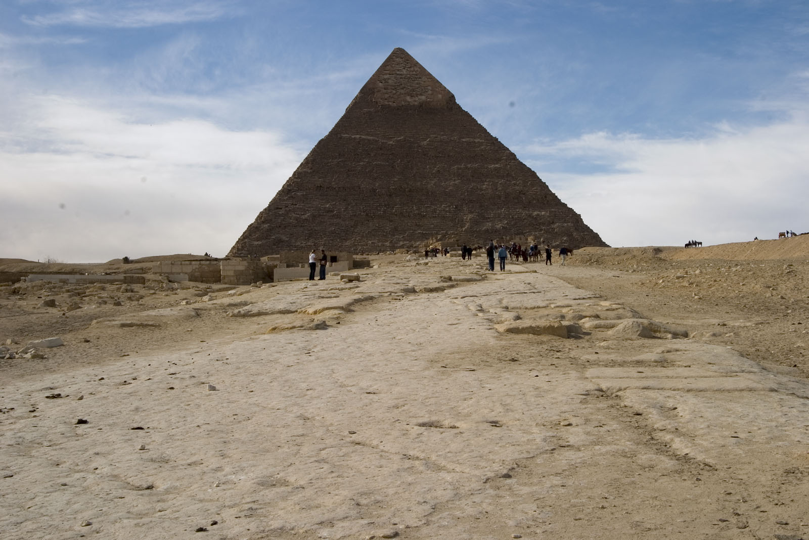 Khafre pyramid and or pyramid temple: Site: Giza; View: Khafre pyramid
