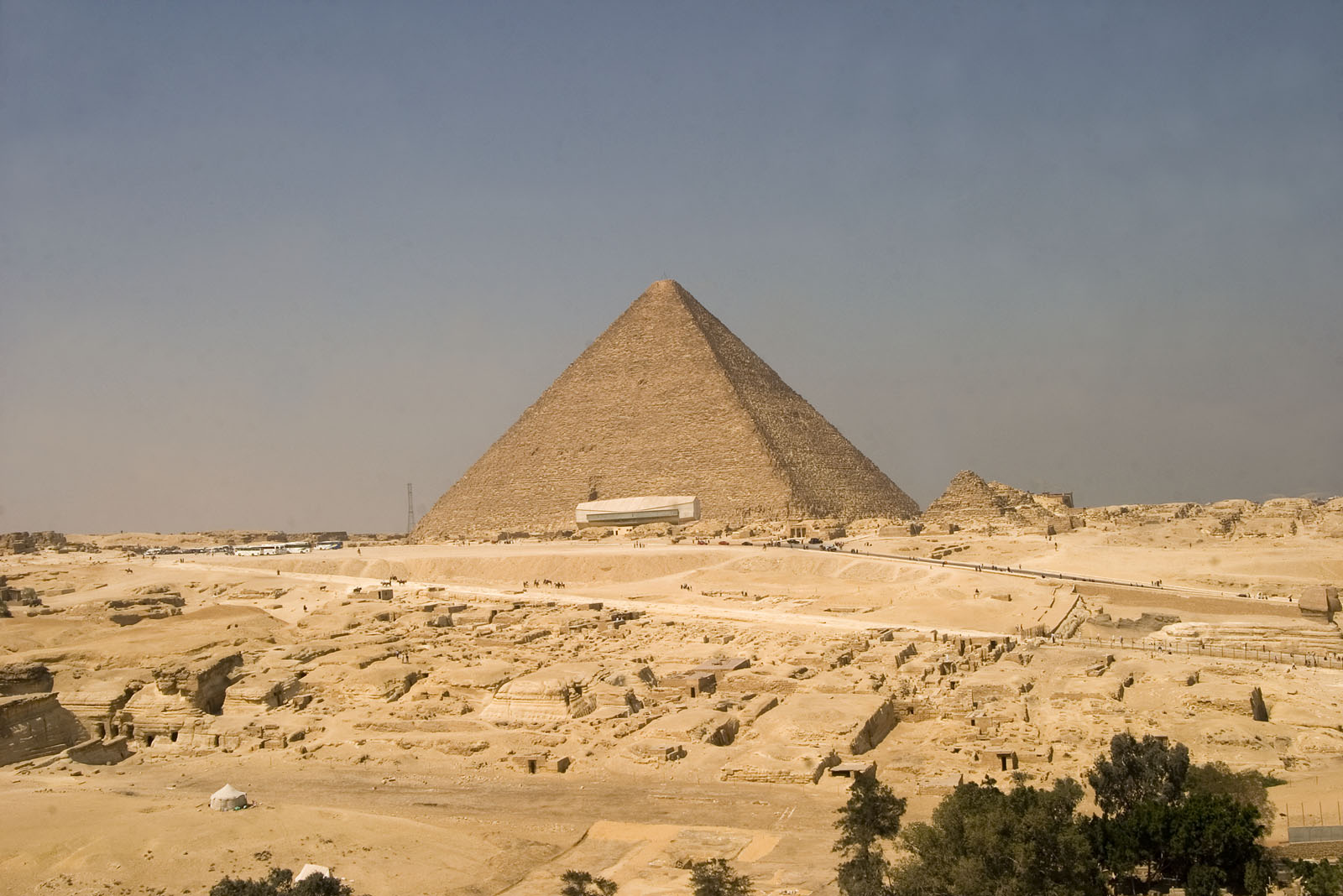 Central Field (Hassan): Site: Giza; View: Central Field, Khufu pyramid