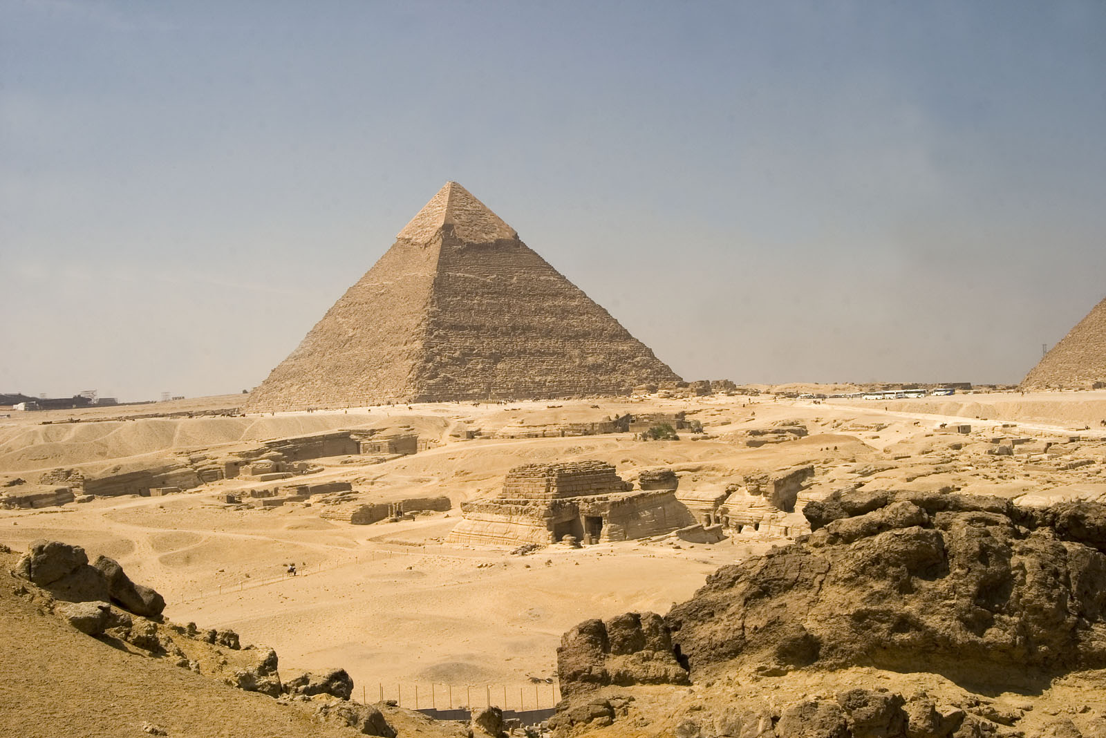 General view: Site: Giza; View: G 8400, Khafre pyramid