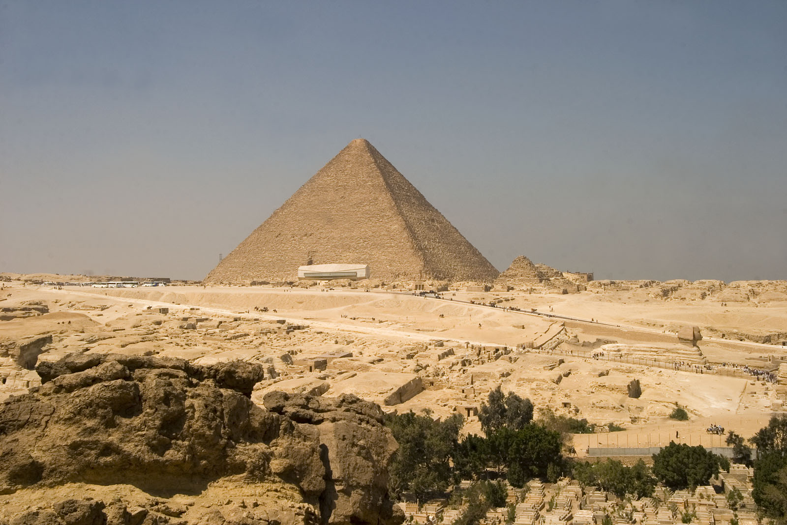 Central Field (Hassan): Site: Giza; View: Khufu pyramid