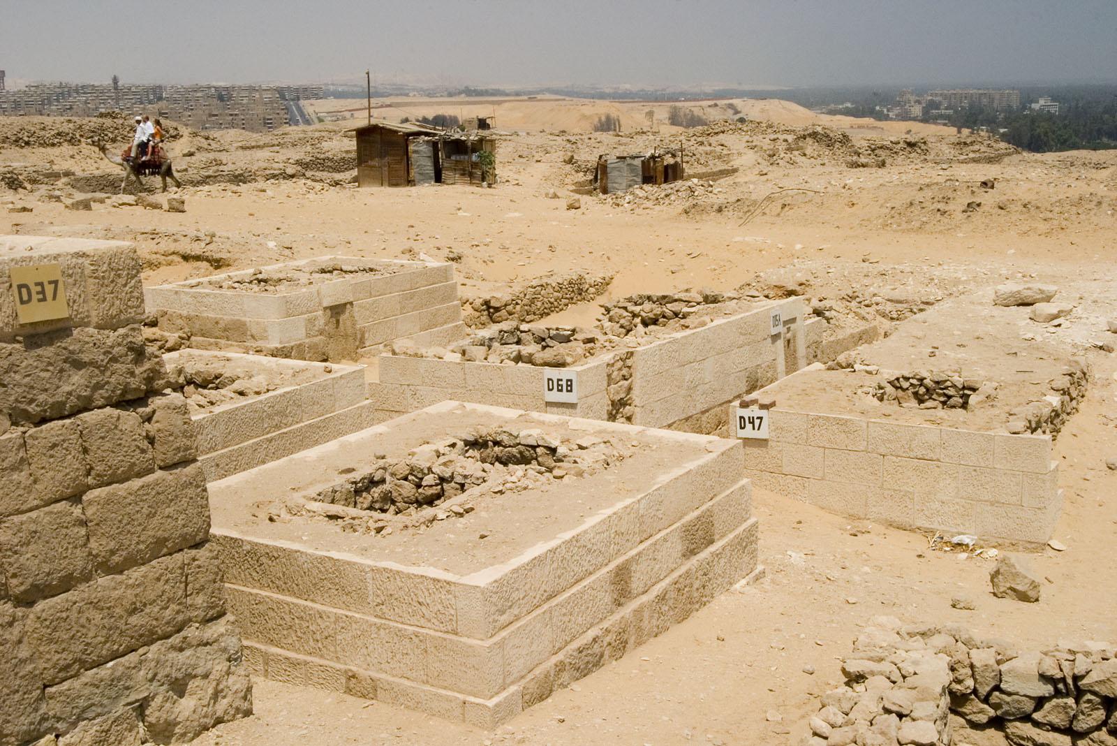 Western Cemetery: Site: Giza; View: D 37, D 65, D 64, D 47, D 68, D 15A, D 63