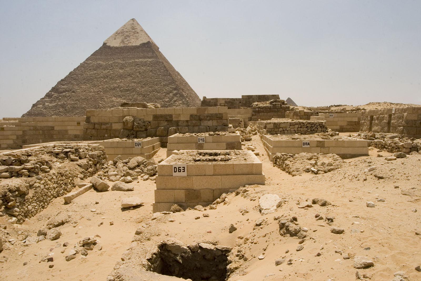 Western Cemetery: Site: Giza; View: D 63, D 64, D 46, D 11A