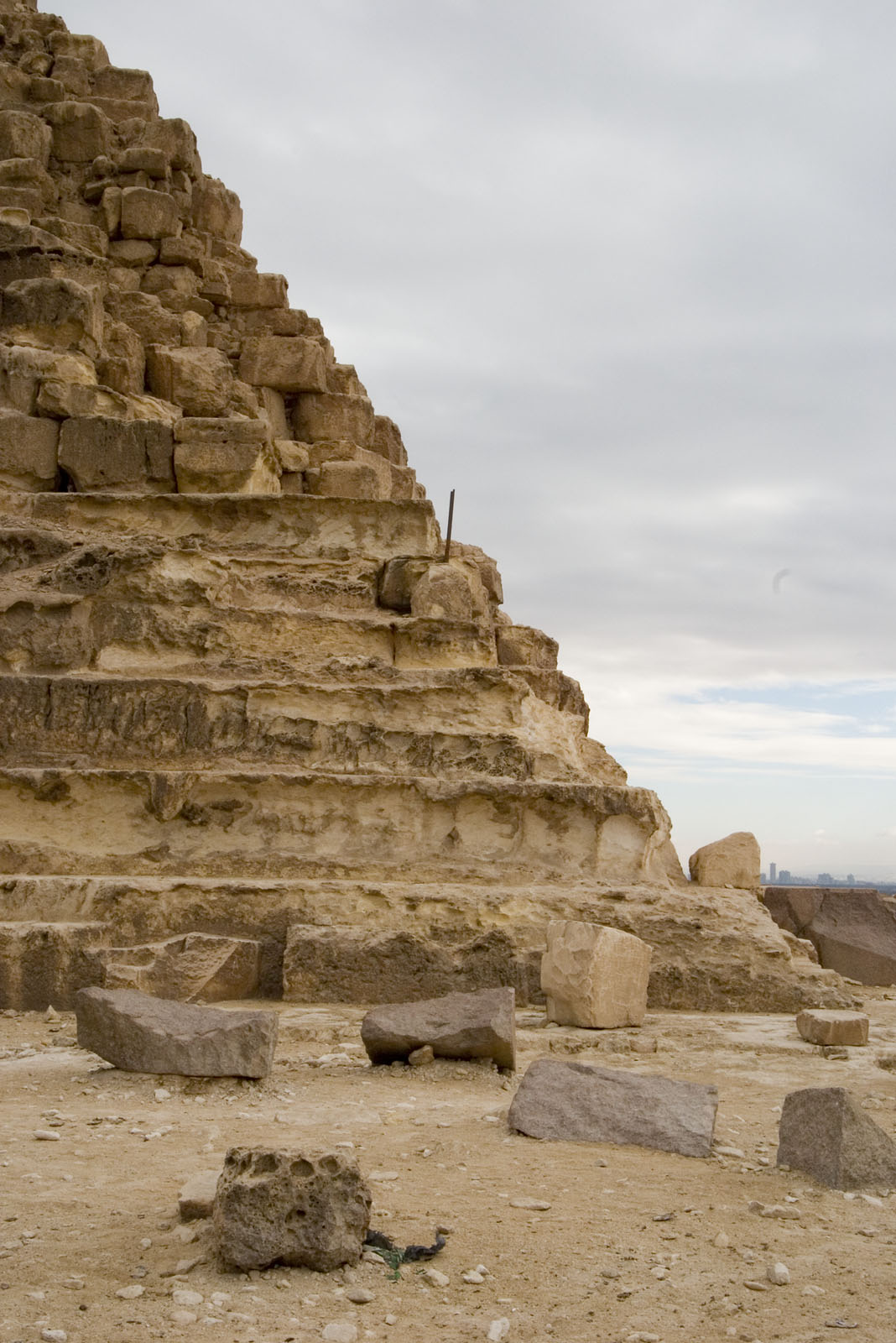 Khafre Quarry Cemetery: Site: Giza; View: Khafre pyramid