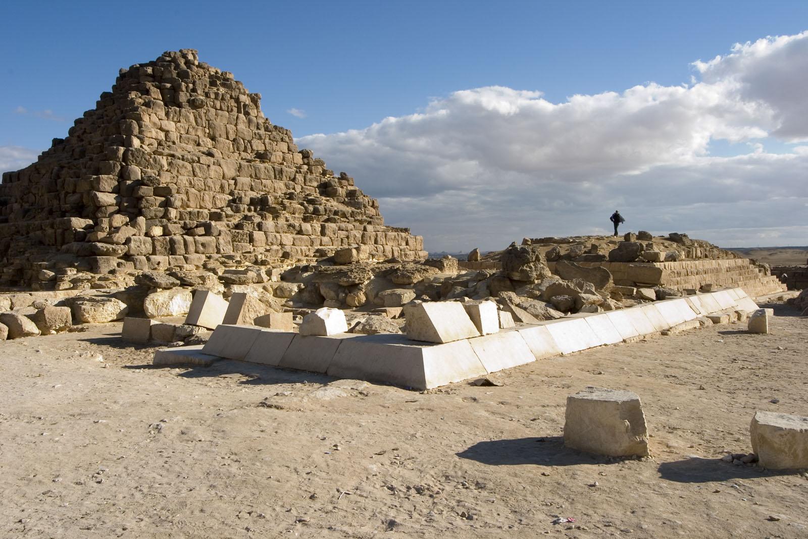 Khufu Pyramid Complex: Site: Giza; View:  G I-d, G I-c