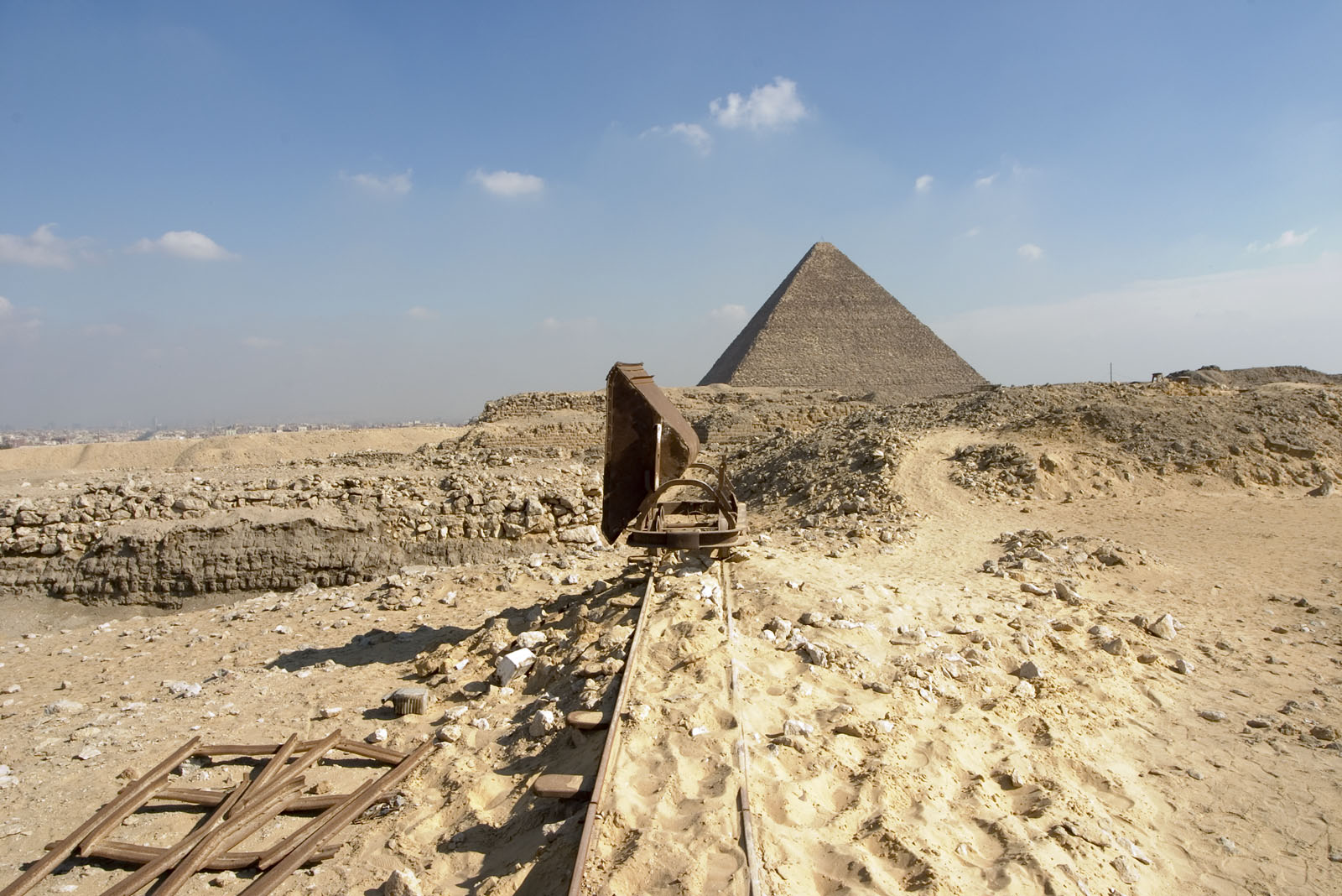 Western Cemetery: Site: Giza; View: Khufu pyramid
