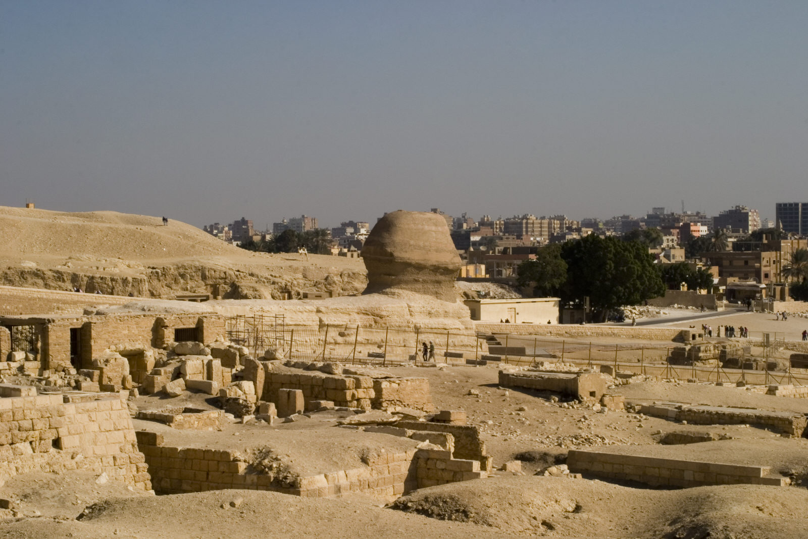 Central Field (Hassan): Site: Giza, View: Sphinx