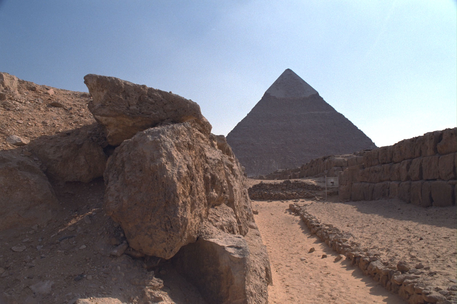 Western Cemetery: Site: Giza; View: Khafre pyramid, G 4760, G 4660