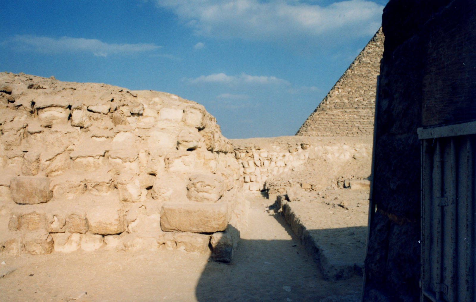 Western Cemetery: Site: Giza; View: G 2160, G 2136, Kaninisut III (G 2156a)