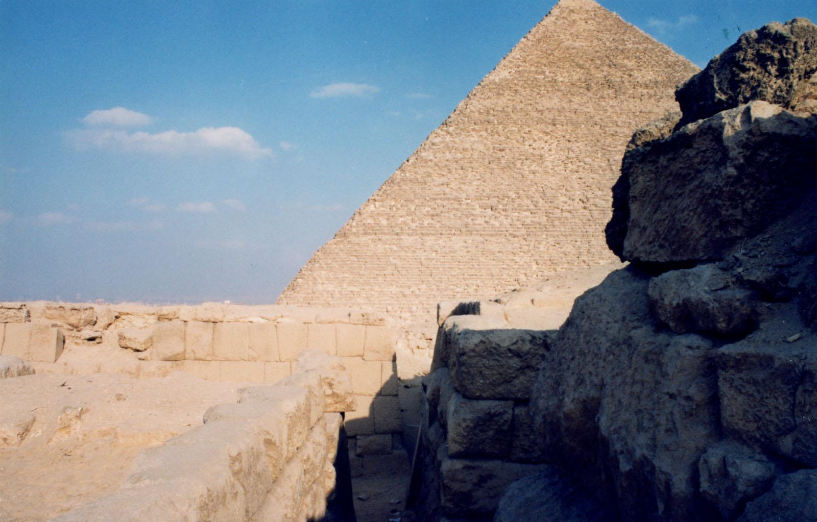 Western Cemetery: Site: Giza; View: G 4761, G 2155, Qedfy (G 2135a)