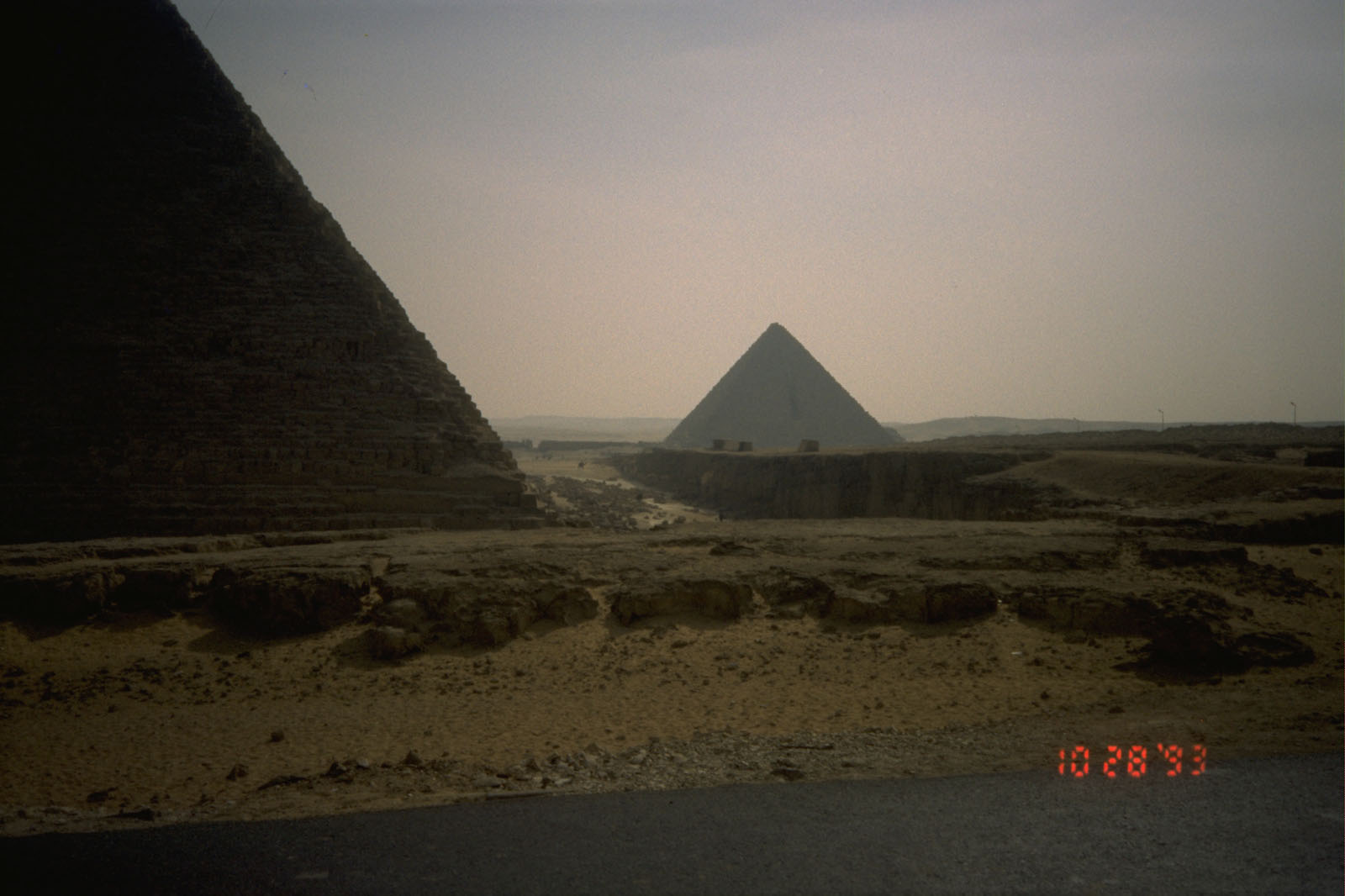 Khafre Pyramid Complex: Site: Giza; View: Khafre pyramid, Menkaure pyramid