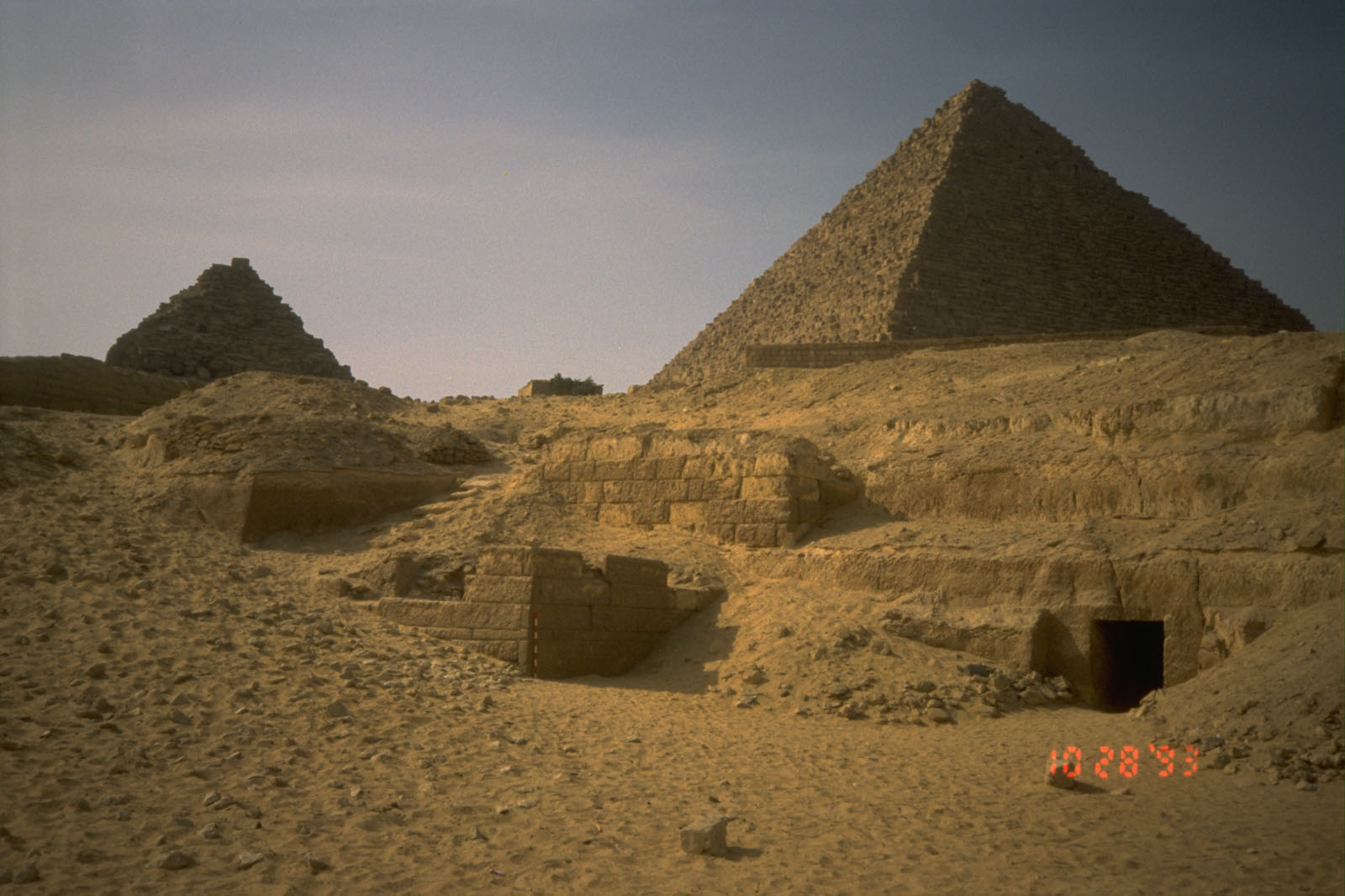 Menkaure Quarry Cemetery: Site: Giza; View: MQ 121, MQ 120, MQ 105