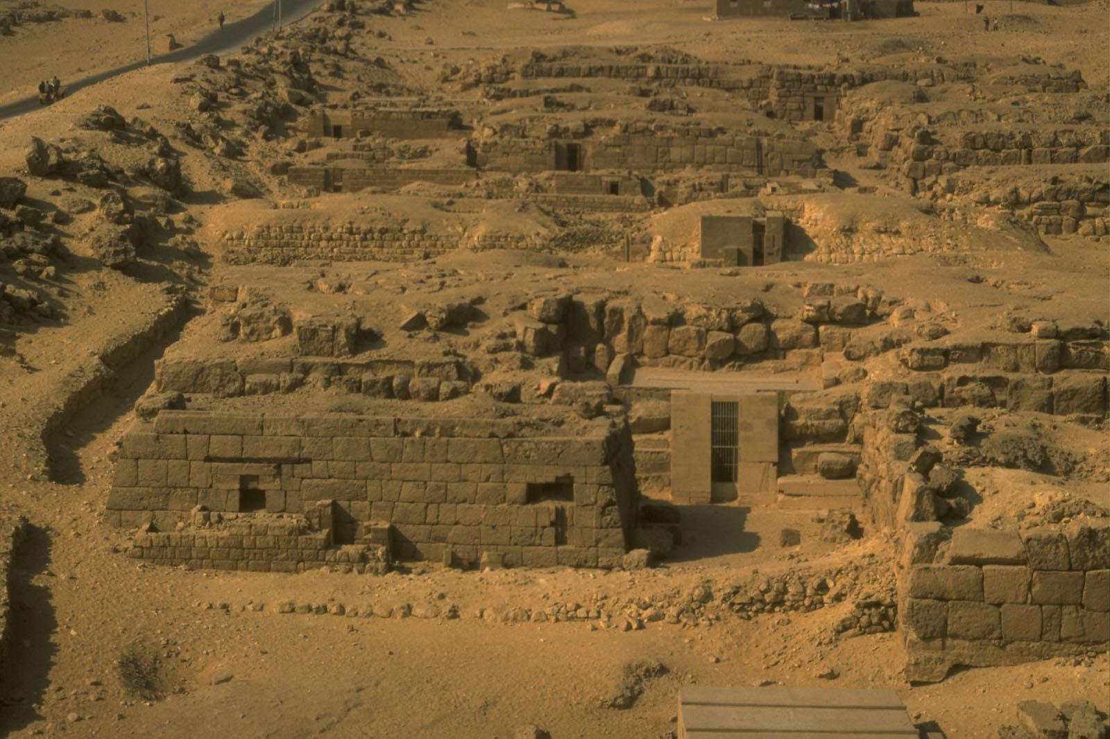 Khufu Pyramid Complex: Site: Giza; View: G 5210, G 5110