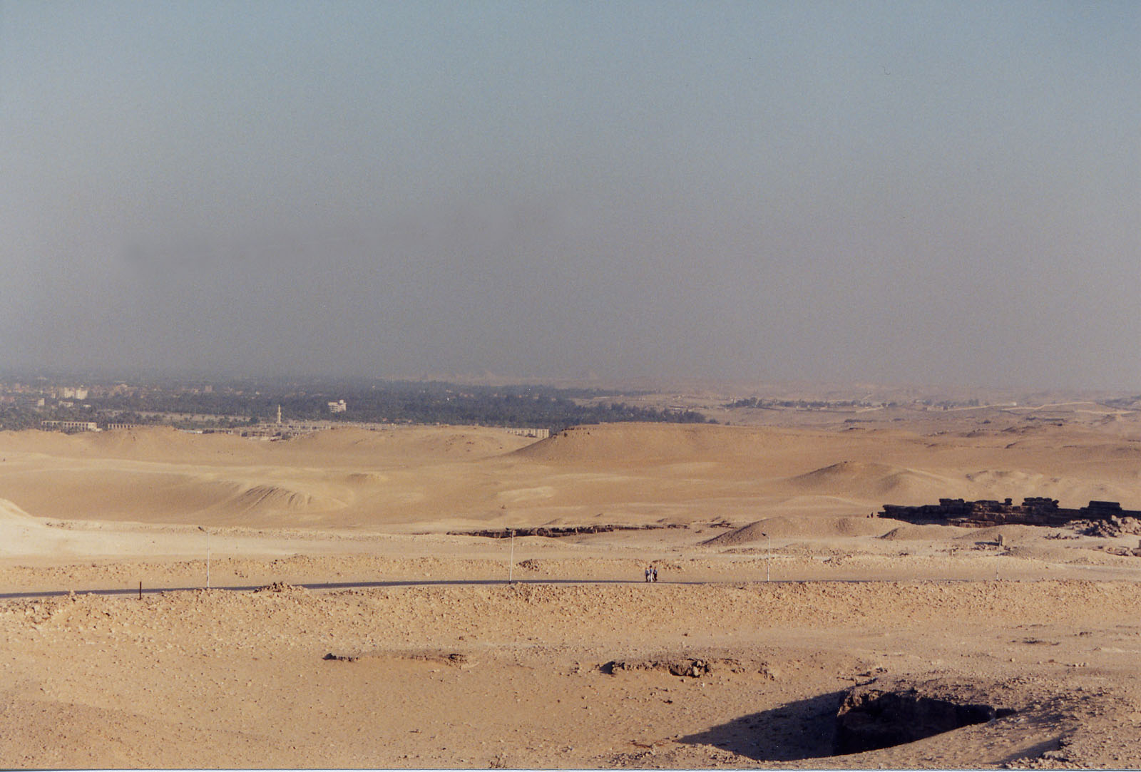 General view/misc.: Site: Giza; View: Abusir, Saqqara, Harvard Camp