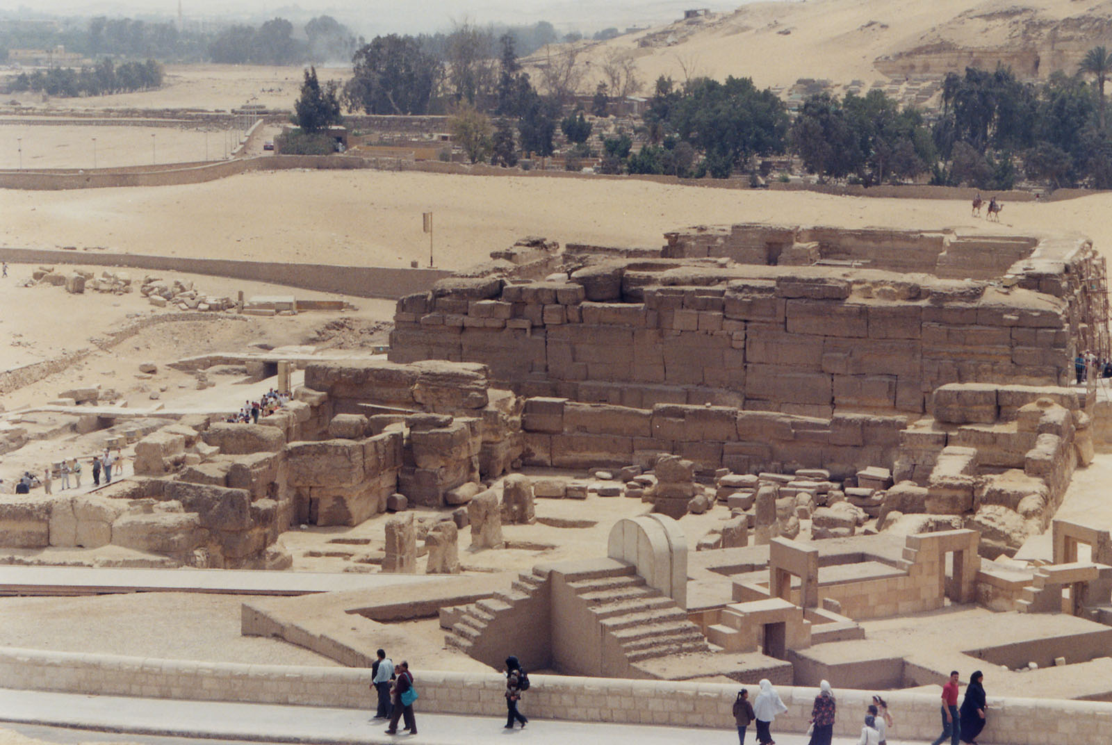 General view/misc.: Site: Giza; View: Amenhotep II Temple, Sphinx temple, Khafre Valley Temple