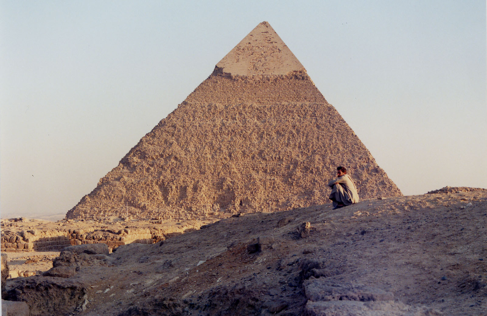 Western Cemetery: Site: Giza; View: Khafre pyramid