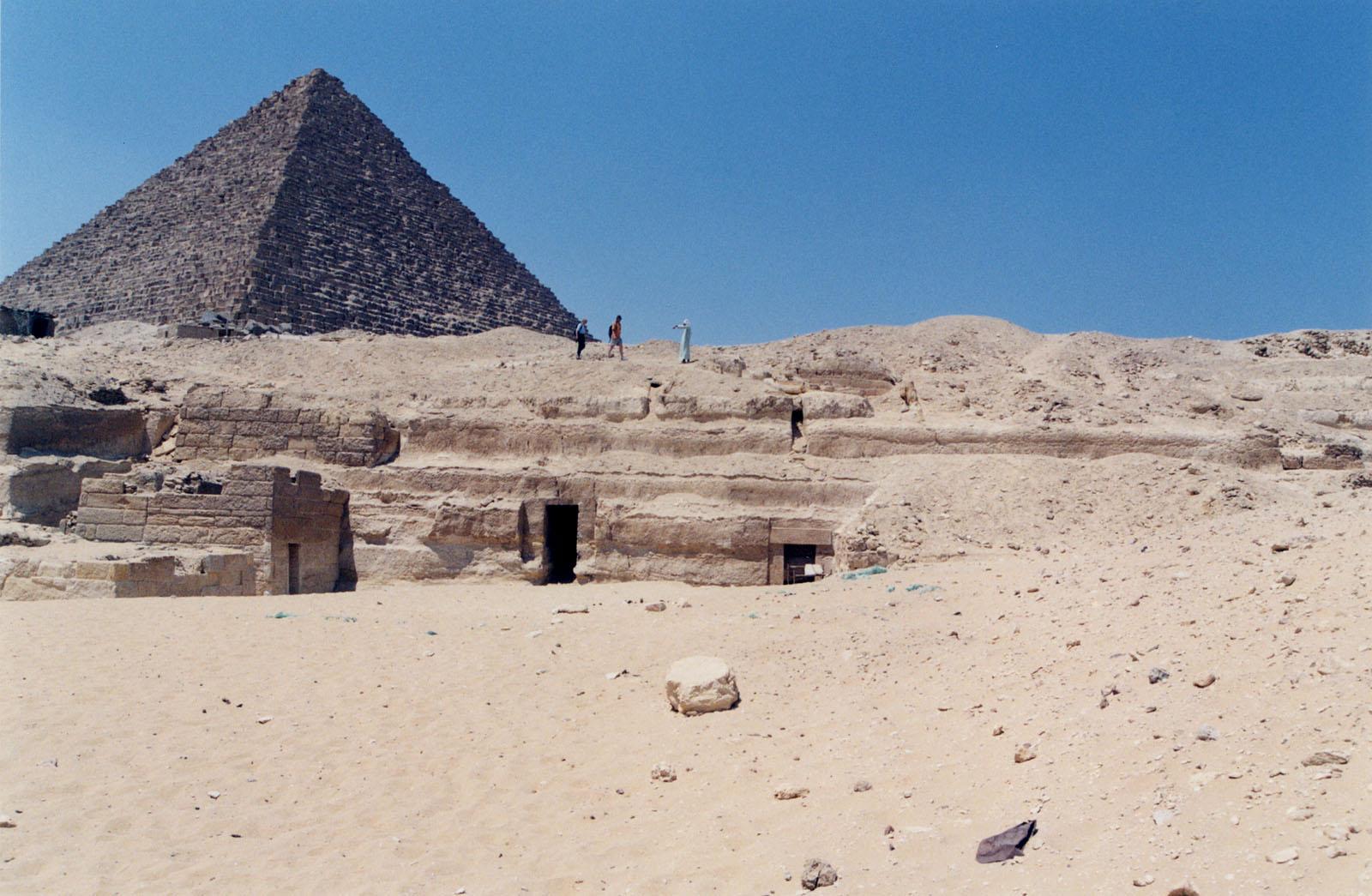 Menkaure Quarry Cemetery: Site: Giza; View: MQ 105, MQ 120, MQ 121, MQ 130, MQ 134