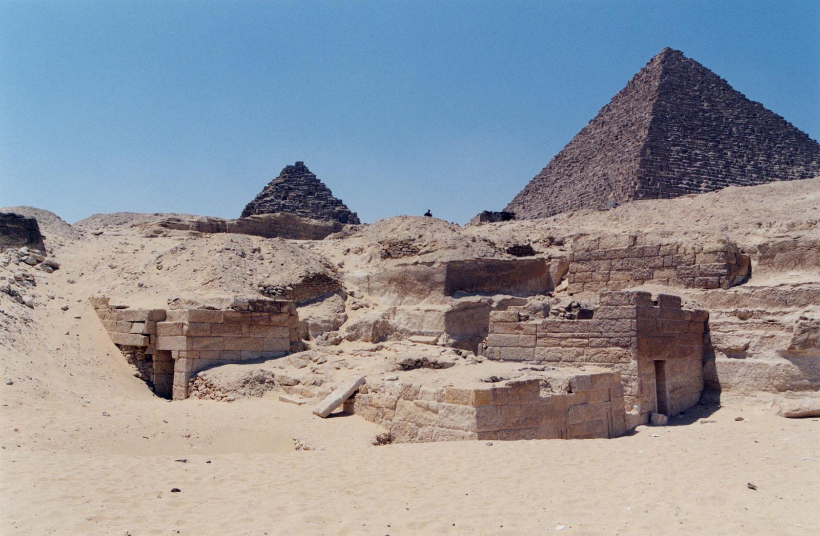 Menkaure Quarry Cemetery: Site: Giza; View: MQ 105, MQ 120, MQ 123, MQ 124, MQ 134, MQ 135