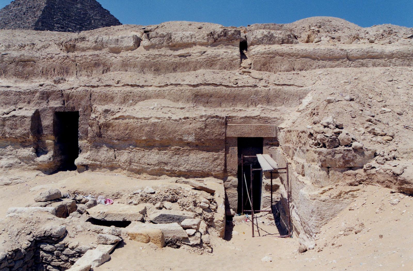 Menkaure Quarry Cemetery: Site: Giza; View: MQ 121, MQ 130, MQ 131