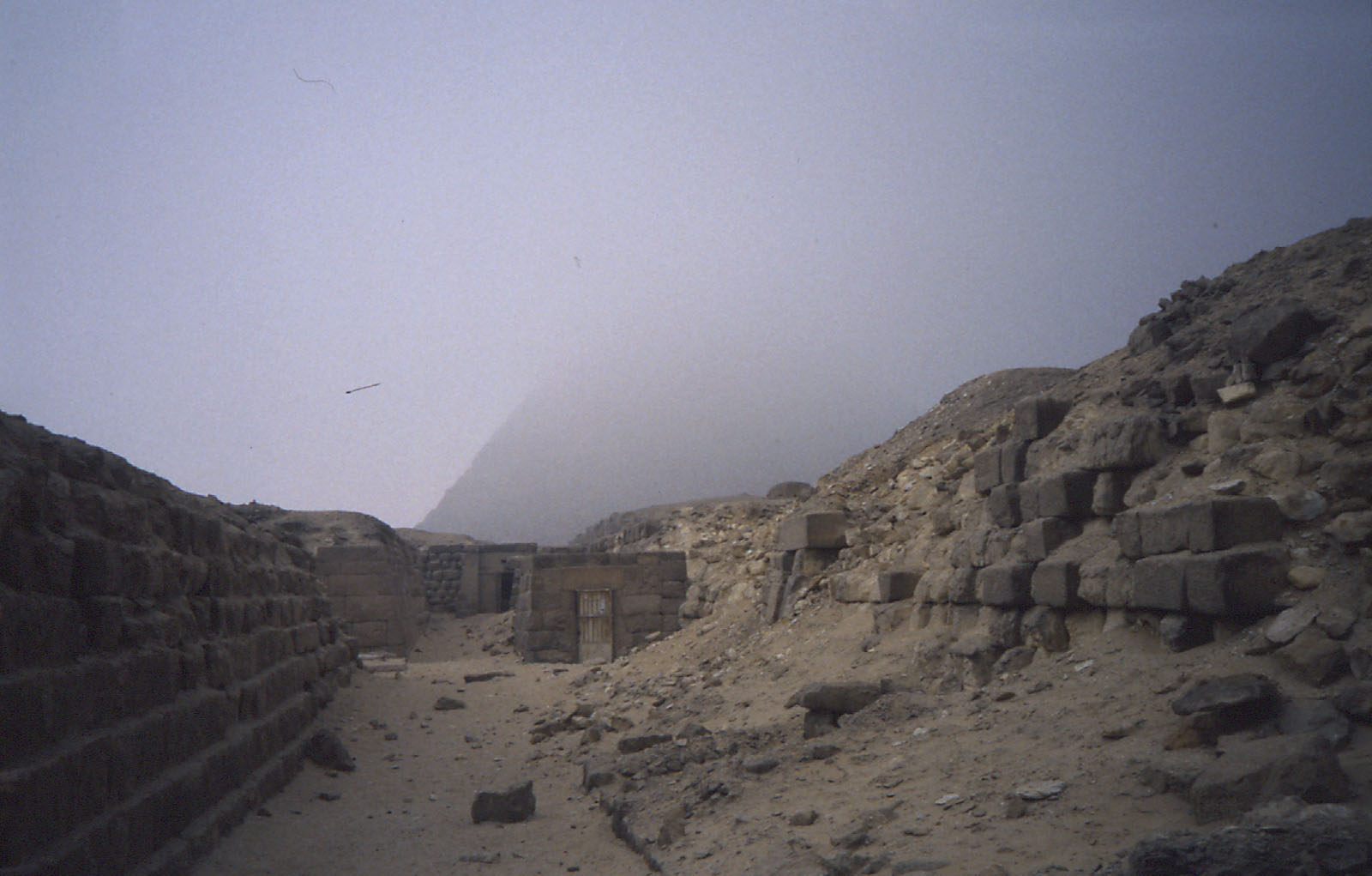 Western Cemetery: Site: Giza; View: G 2140, G 2136, Khafre pyramid