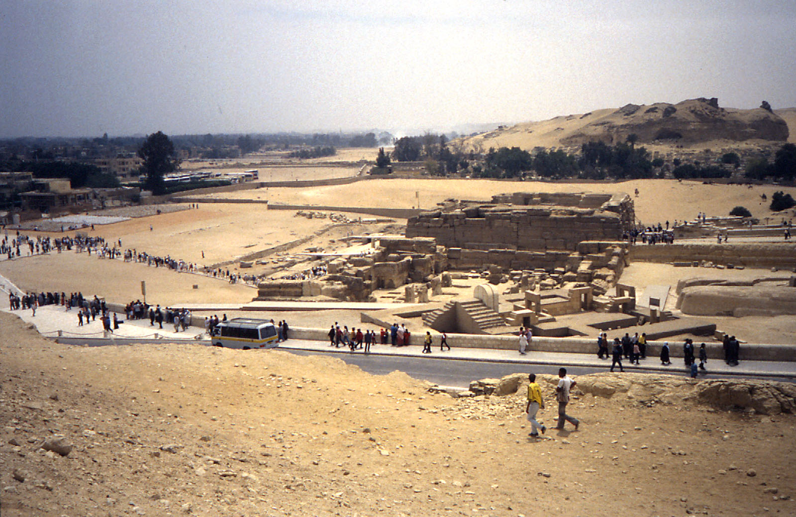 Khafre Pyramid Complex: Site: Giza; View: Sphinx, Khafre valley temple