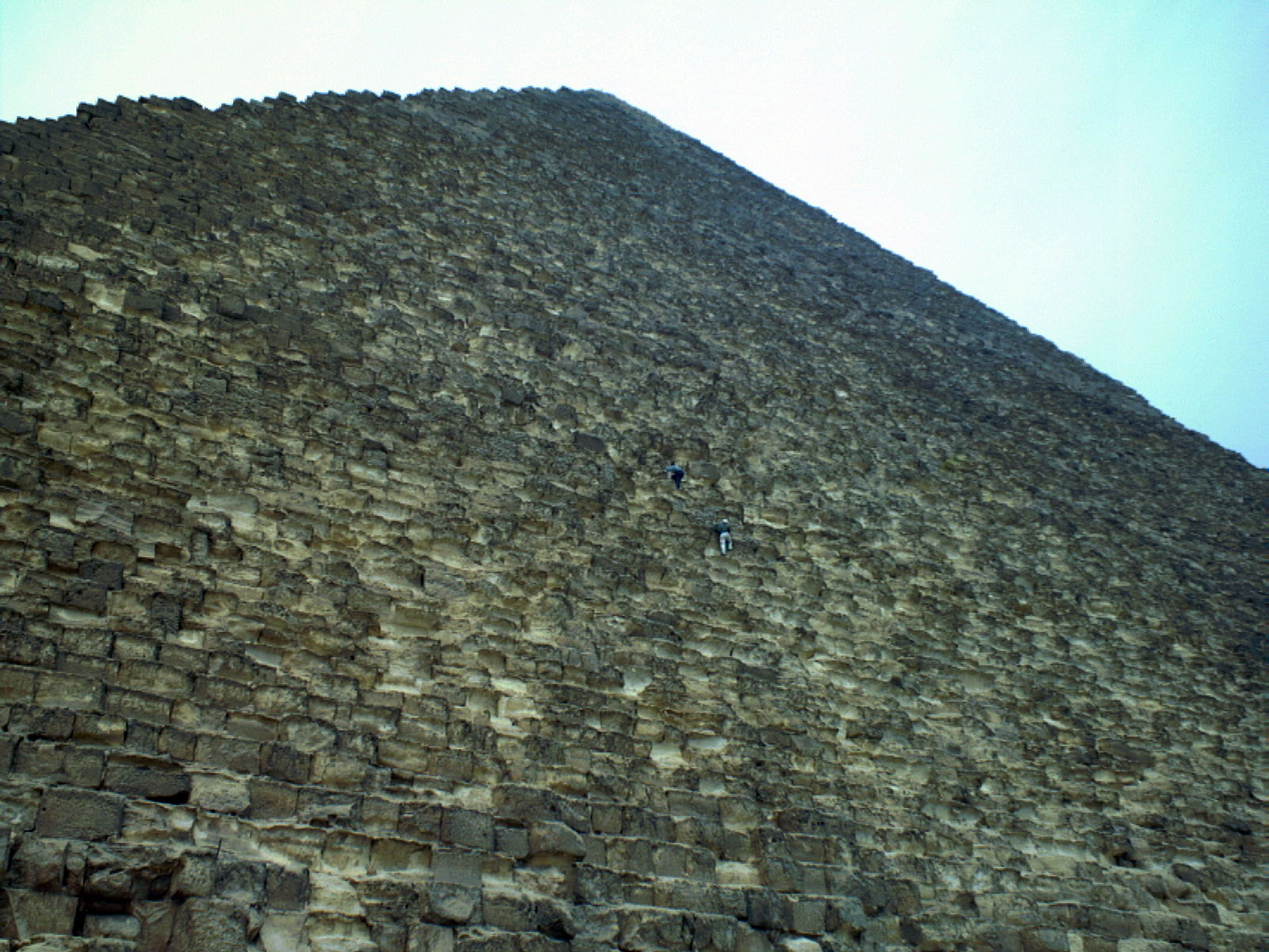 People & places: Site: Giza; View: Khufu pyramid