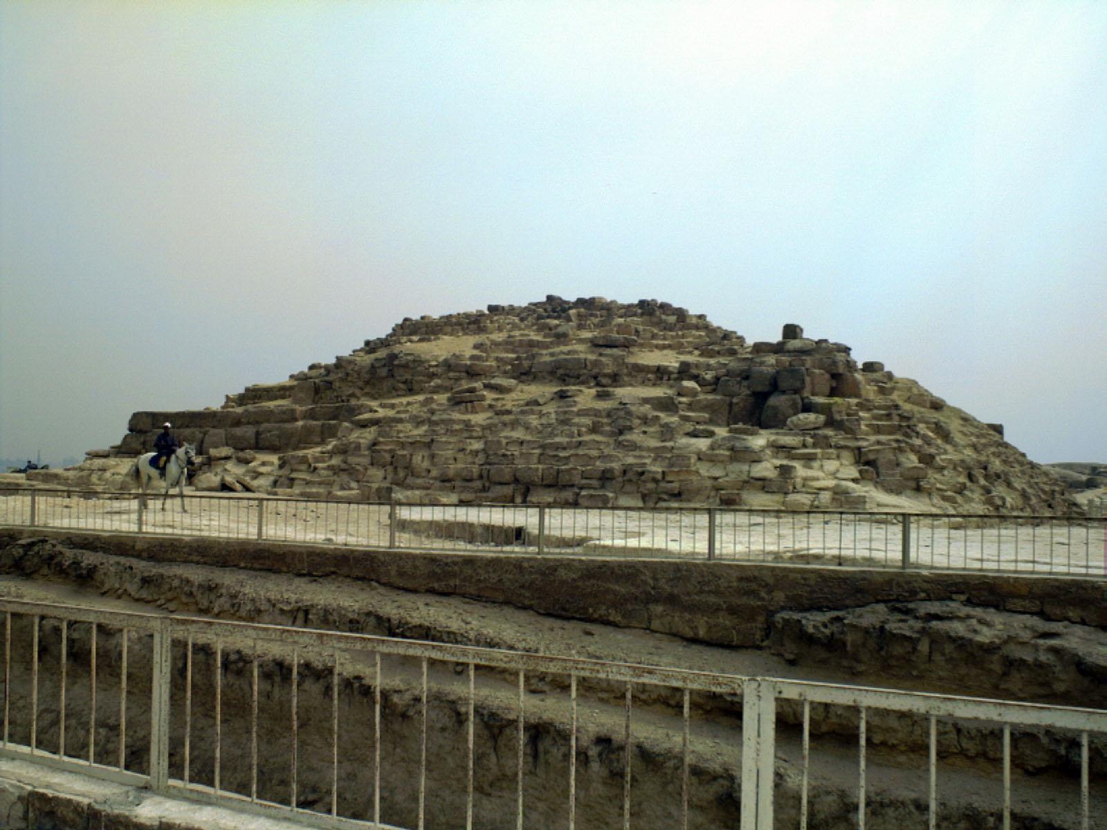 Khufu Pyramid Complex: Site: Giza; View: Khufu boat pit, G I-a
