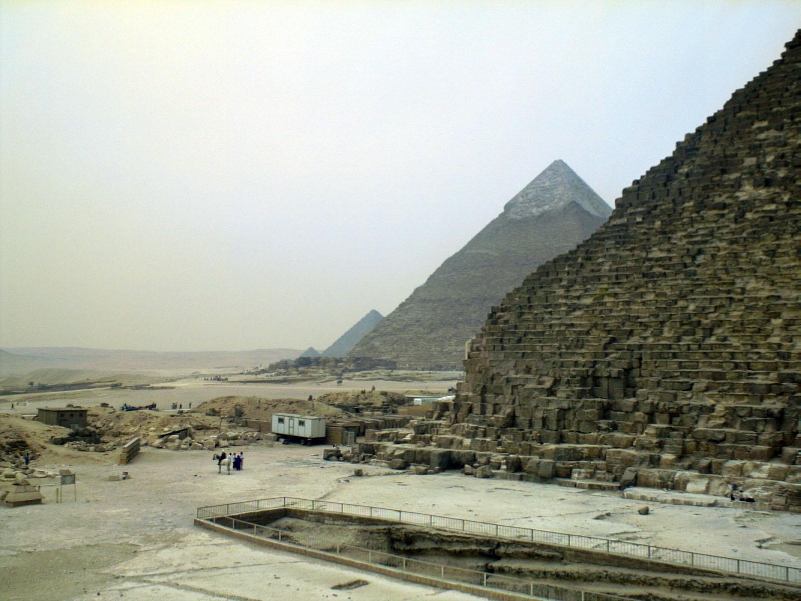 Khufu Pyramid Complex: Site: Giza; View: Khufu pyramid, Khufu boat pit